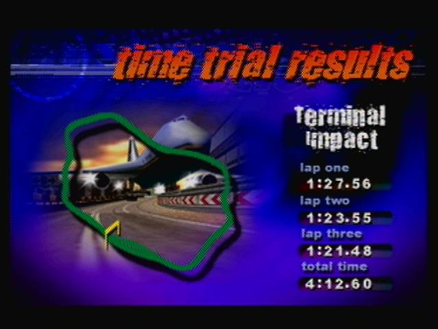derek: Destruction Derby 64: Time Trial [Terminal Impact] (N64) 0:04:12.6 points on 2016-04-19 13:29:58