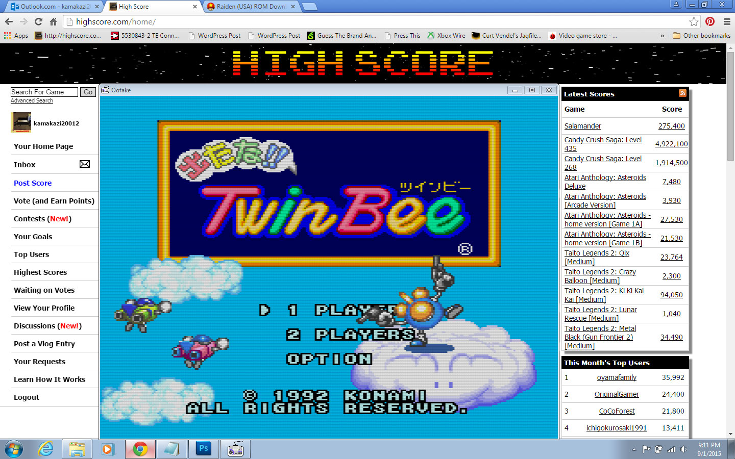 Detana!! TwinBee [Rank Normal] 165,650 points