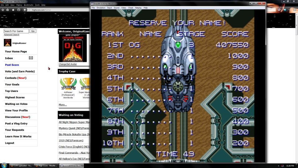 OriginalGamer: Dezaemon [Daioh Gale] (SNES/Super Famicom Emulated) 407,550 points on 2016-09-05 21:40:22