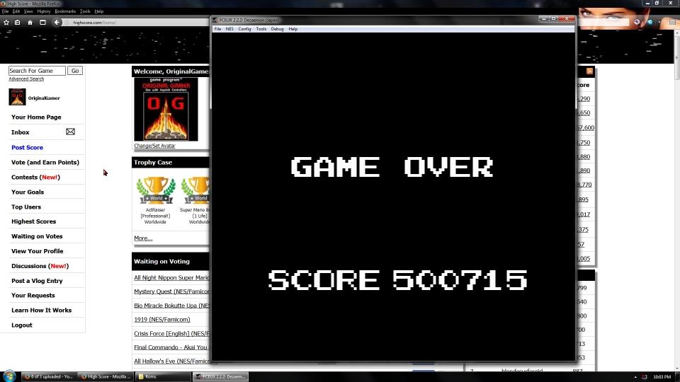 OriginalGamer: Dezaemon [Sample Game] (NES/Famicom Emulated) 500,715 points on 2016-09-05 02:09:25