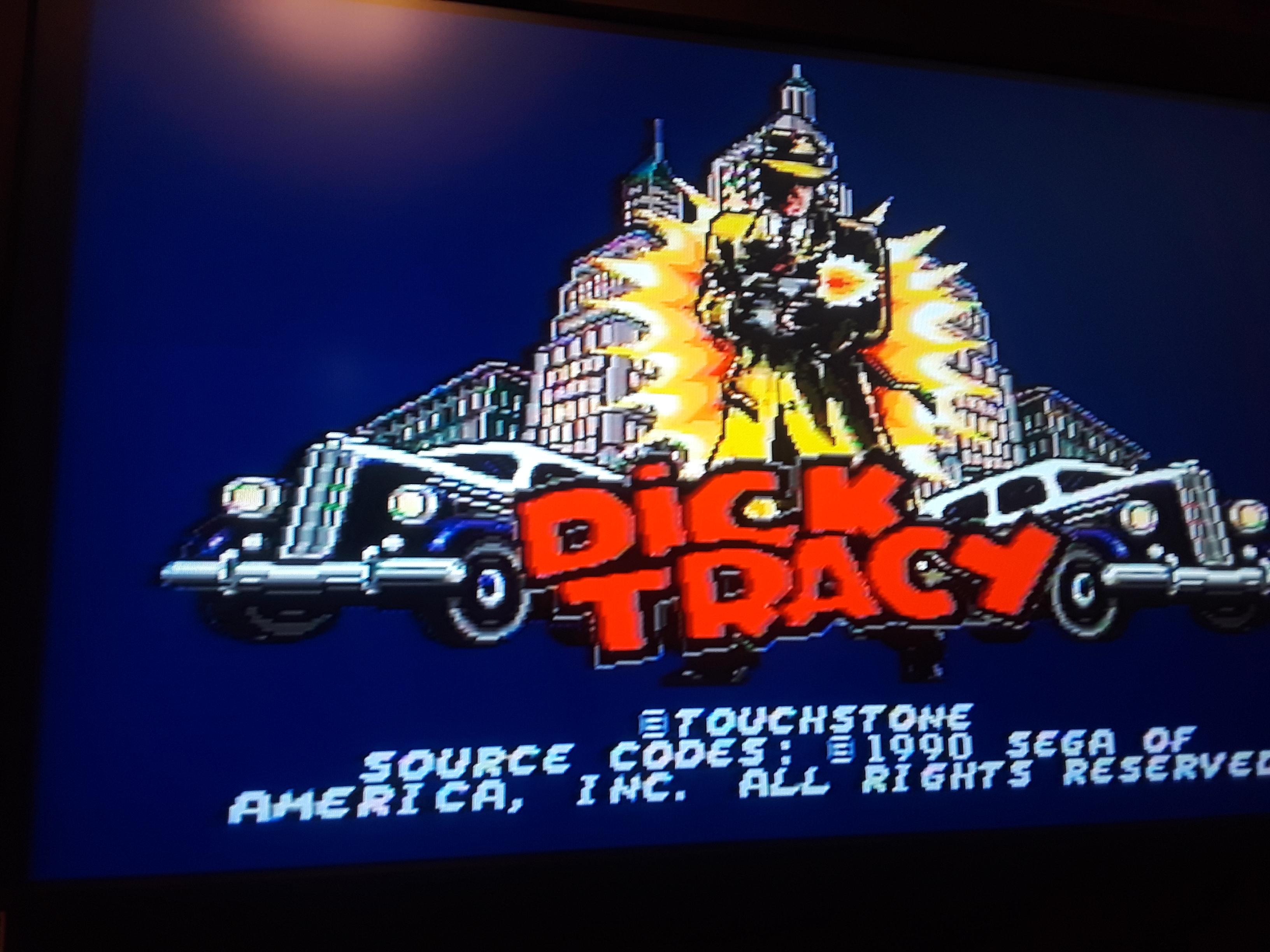 JML101582: Dick Tracy [Normal] (Sega Genesis / MegaDrive Emulated) 21,400 points on 2018-08-04 00:01:59