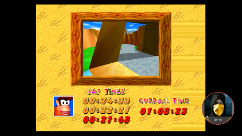 omargeddon: Diddy Kong Racing: Tracks [Ancient Lake/ Fastest Lap] (N64 Emulated) 0:00:21.68 points on 2018-01-24 20:39:51