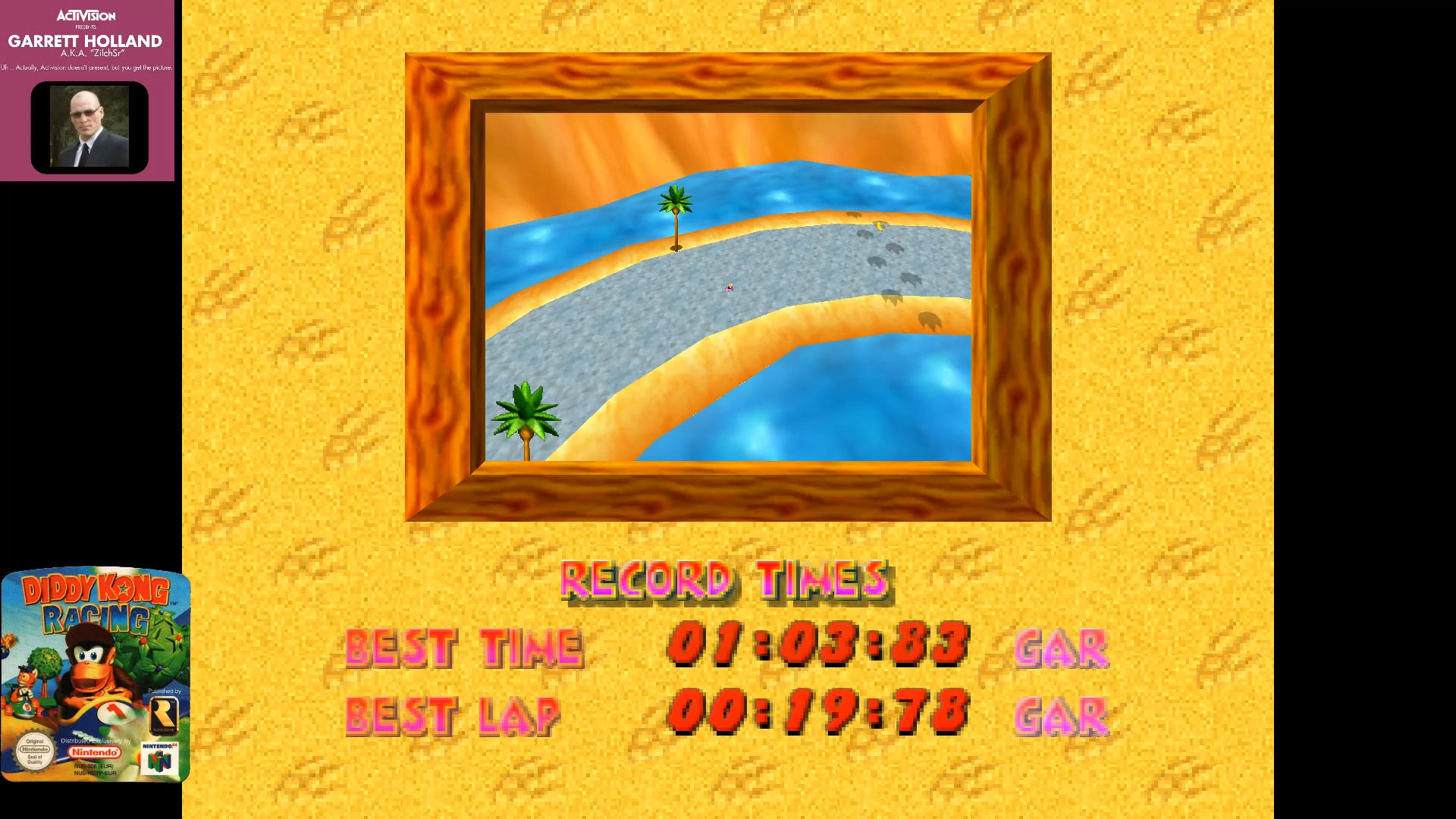 ZilchSr: Diddy Kong Racing: Tracks [Ancient Lake/ Fastest Lap] (N64 Emulated) 0:00:19.78 points on 2019-07-01 15:00:43