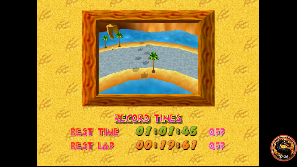 omargeddon: Diddy Kong Racing: Tracks [Ancient Lake] (N64 Emulated) 0:01:01.45 points on 2019-11-15 22:13:10