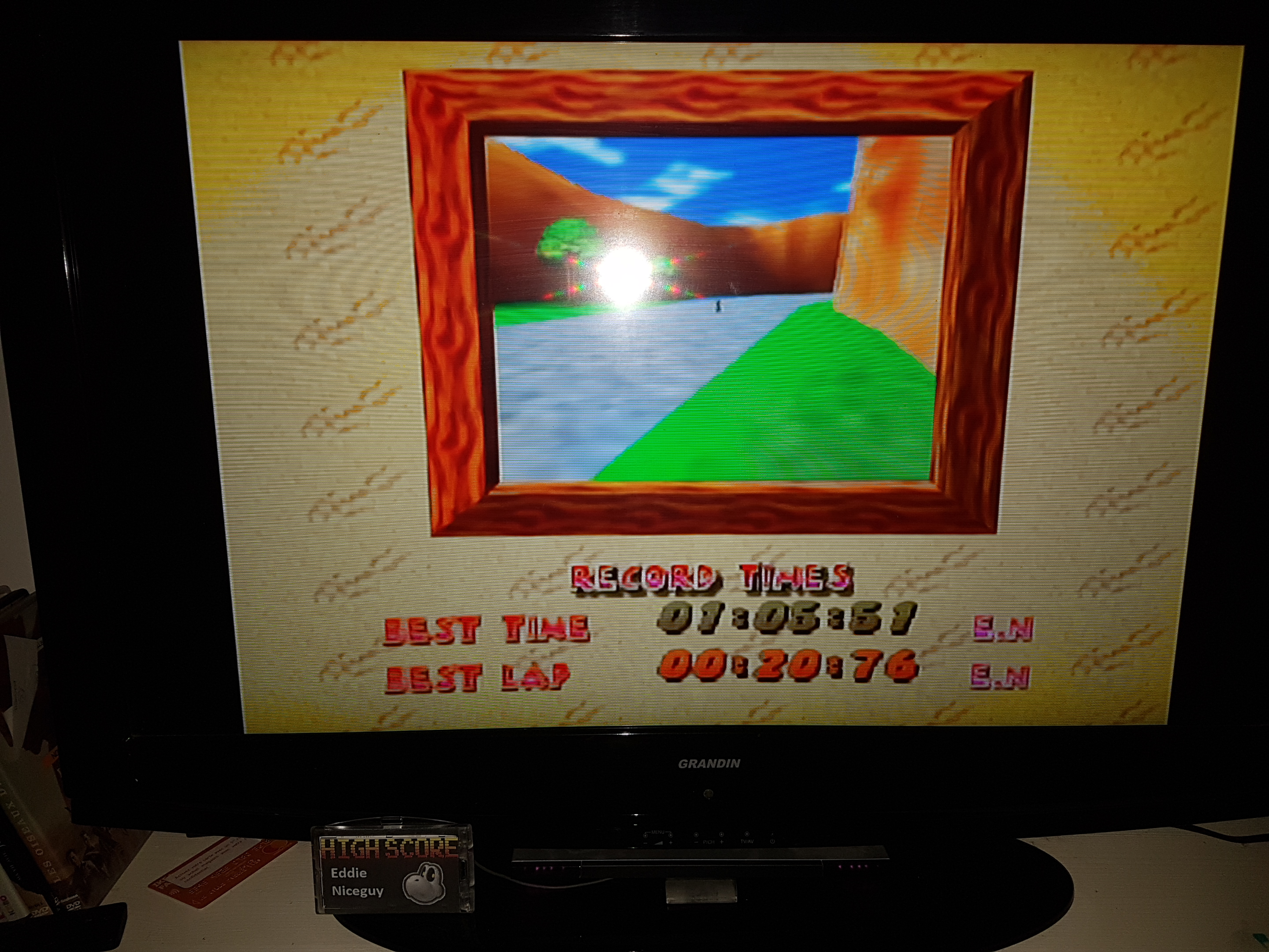 EddieNiceguy: Diddy Kong Racing: Tracks [Ancient Lake] (N64 Emulated) 0:01:05.51 points on 2019-12-07 17:38:57
