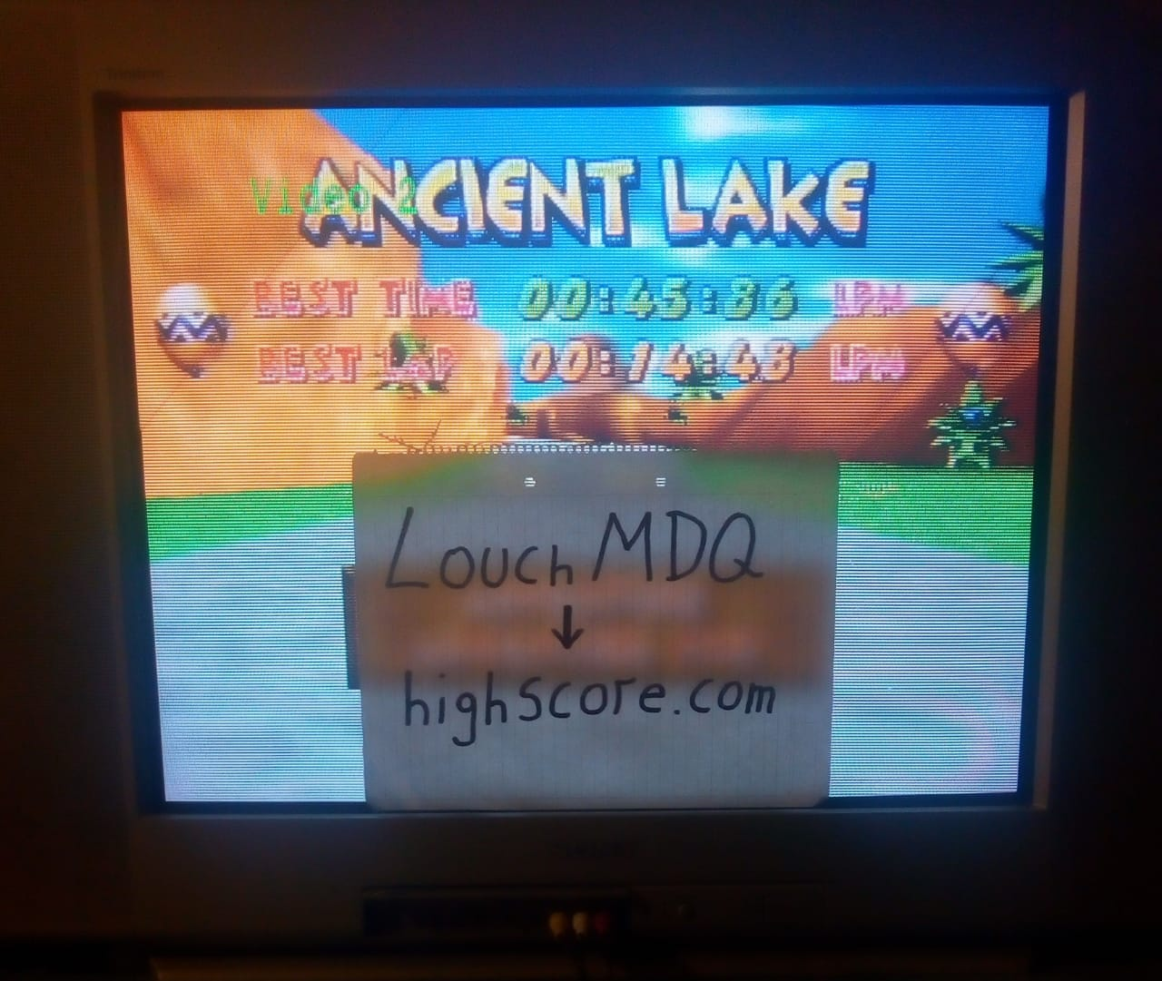 Diddy Kong Racing: Tracks [Ancient Lake] time of 0:00:45.86