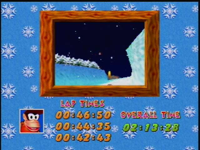 Diddy Kong Racing: Tracks [Everfrost Peak/ Fastest Lap] time of 0:00:42.43