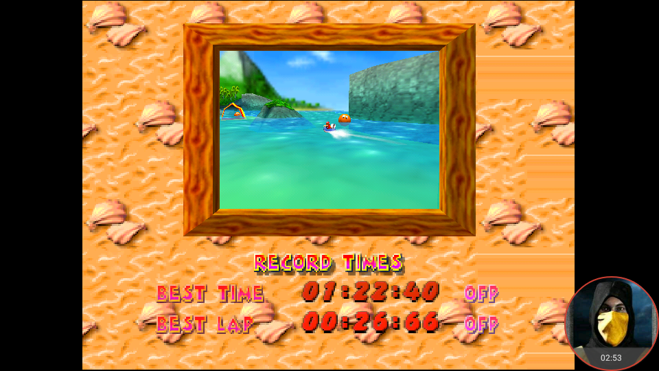 omargeddon: Diddy Kong Racing: Tracks [Whale Bay] (N64 Emulated) 0:01:22.4 points on 2018-03-10 15:21:35