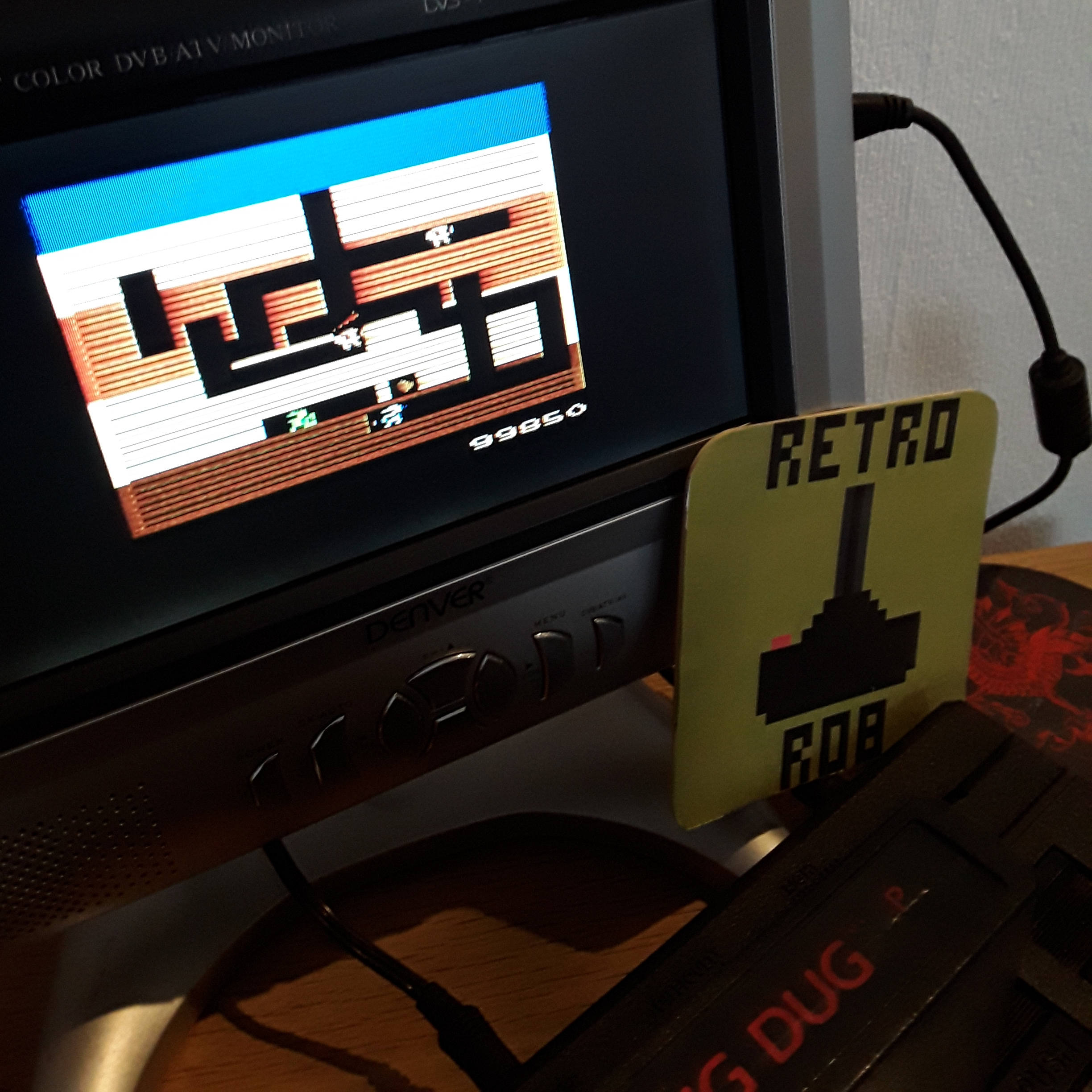 RetroRob: Dig Dug (Atari 2600) 99,850 points on 2018-12-30 06:00:48