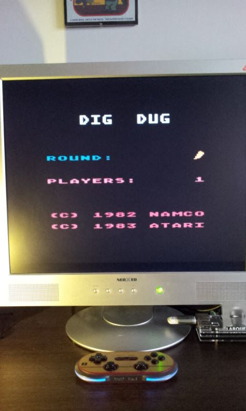 Larquey: Dig Dug (Atari 400/800/XL/XE Emulated) 22,890 points on 2017-02-11 10:17:09