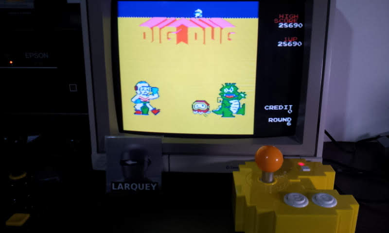 Larquey: Dig Dug (Bandai Pac-Man Connect and Play) 28,690 points on 2018-07-23 15:44:20