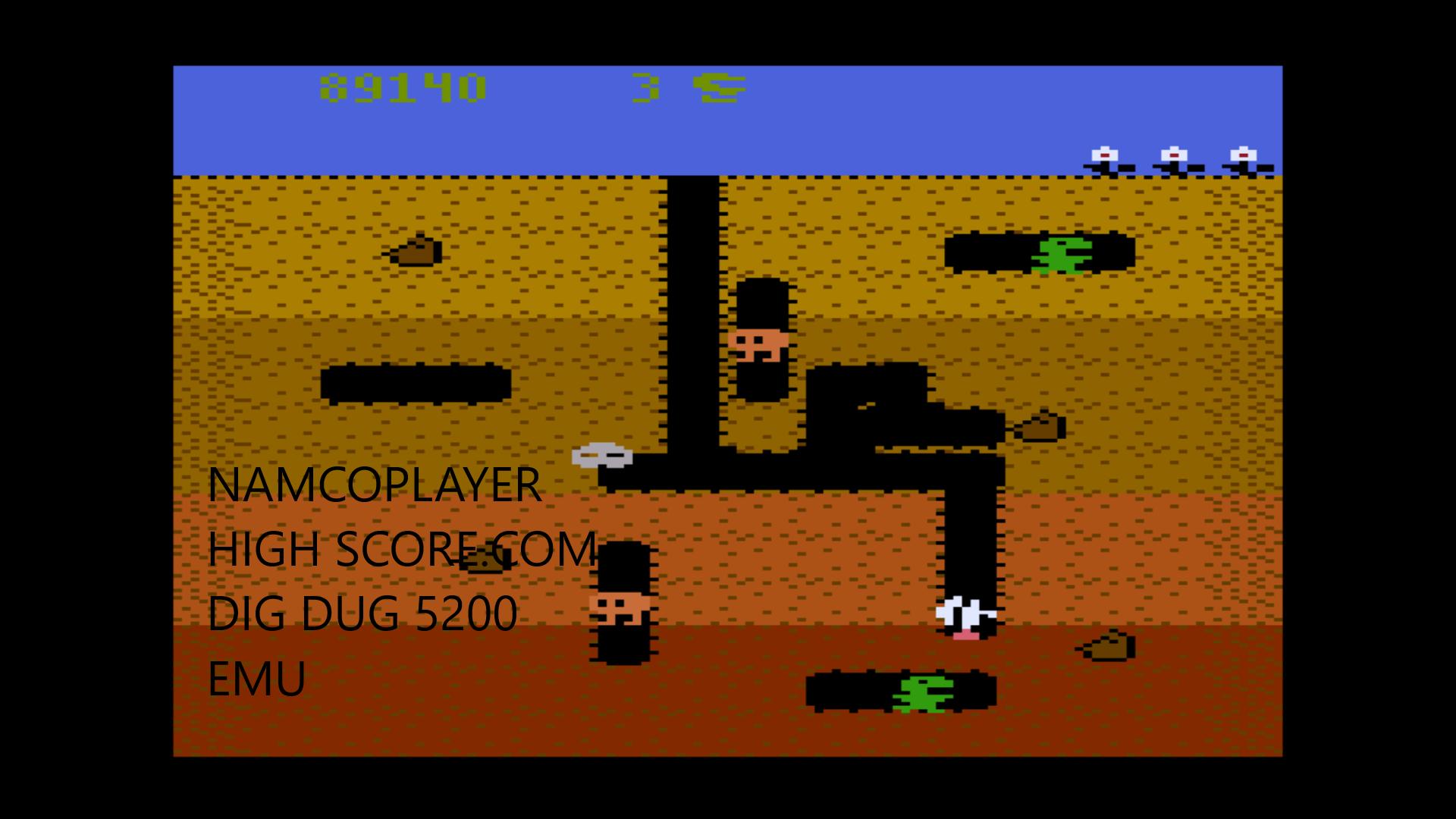 NamcoPlayer: Dig Dug: Carrot Start (Atari 5200 Emulated) 89,140 points on 2020-10-30 17:07:23