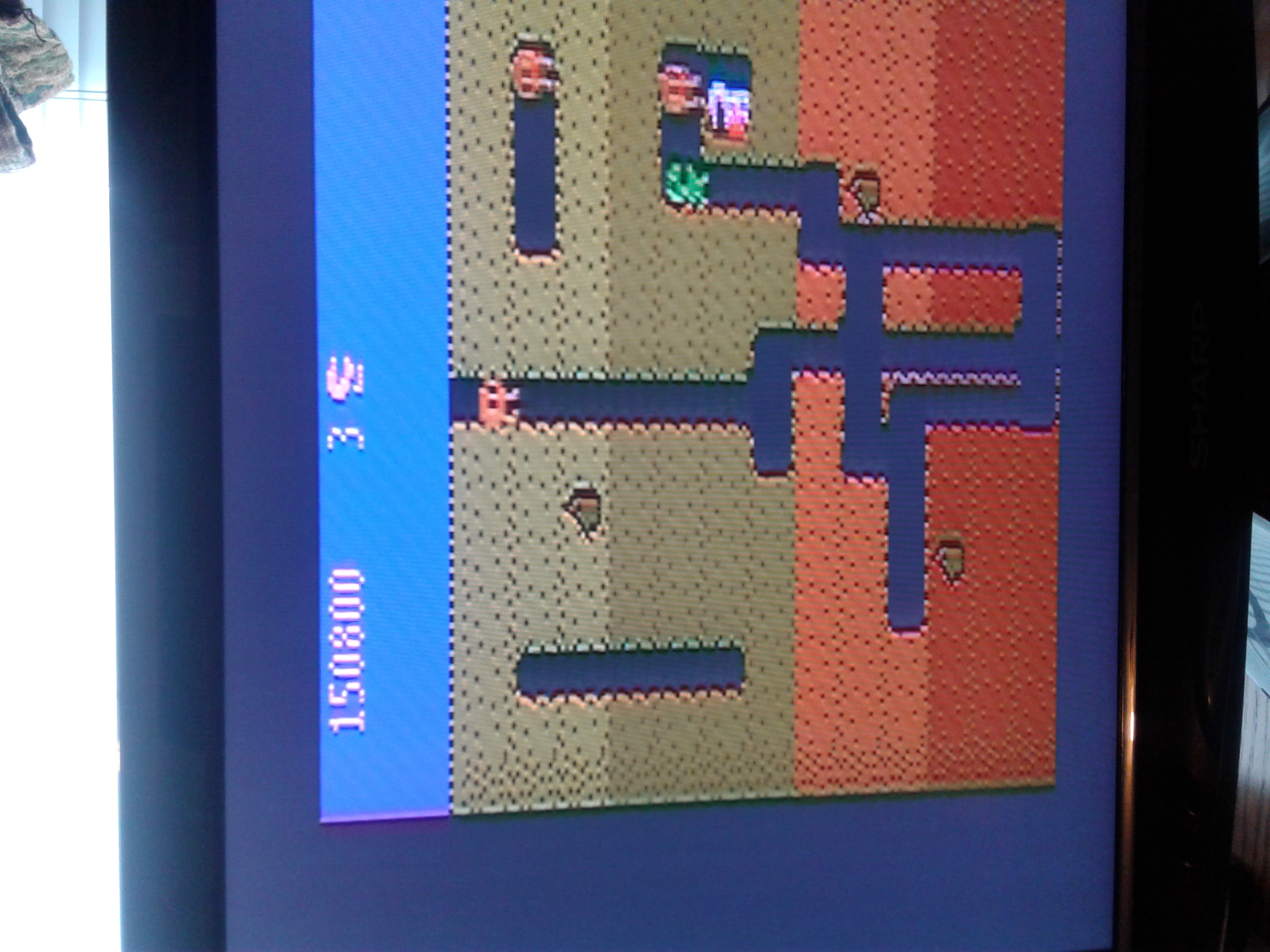Dig Dug: Carrot Start 150,800 points