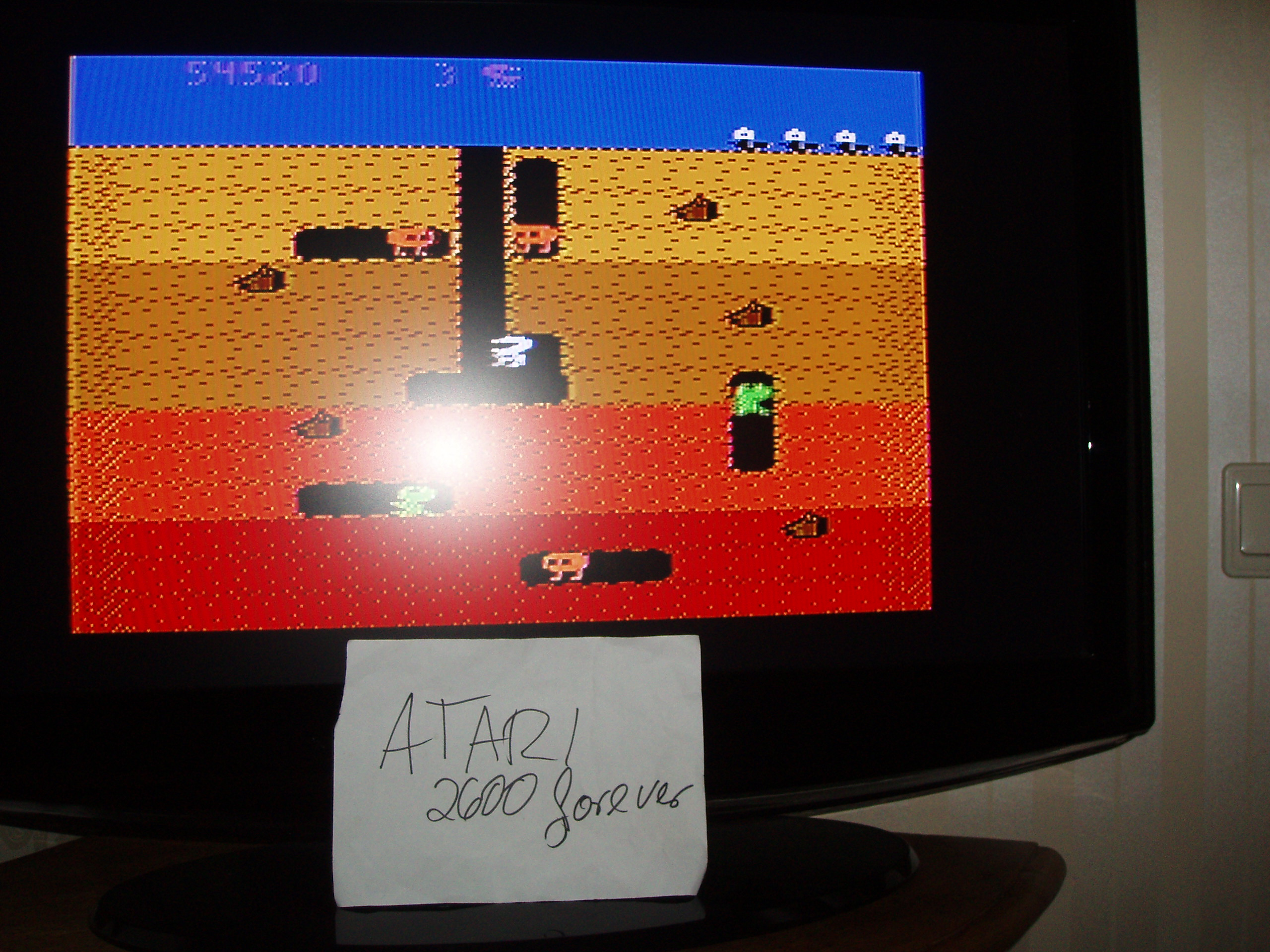 atari2600forever: Dig Dug: Carrot Start (Atari 5200) 54,520 points on 2019-03-15 11:43:50