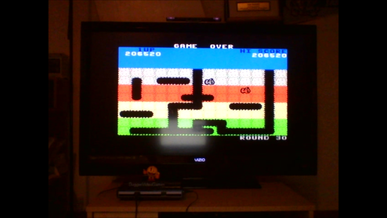 DuggerVideoGames: Dig Dug (Colecovision Emulated) 206,520 points on 2016-09-29 15:54:34