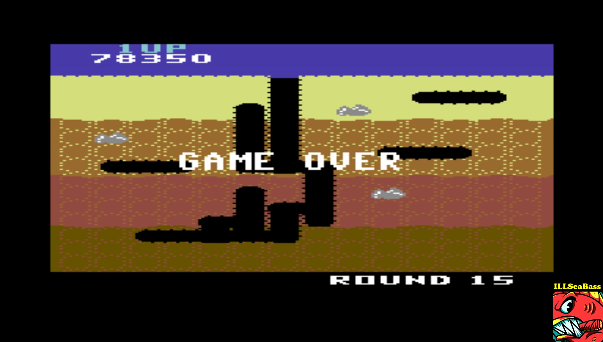 ILLSeaBass: Dig Dug (Commodore 64 Emulated) 78,350 points on 2017-03-17 00:21:16
