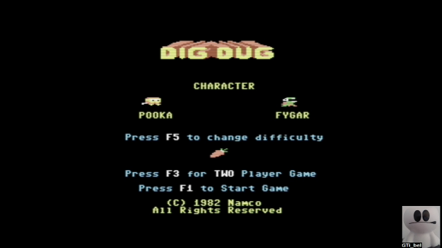 GTibel: Dig Dug (Commodore 64 Emulated) 103,790 points on 2019-03-04 04:20:06