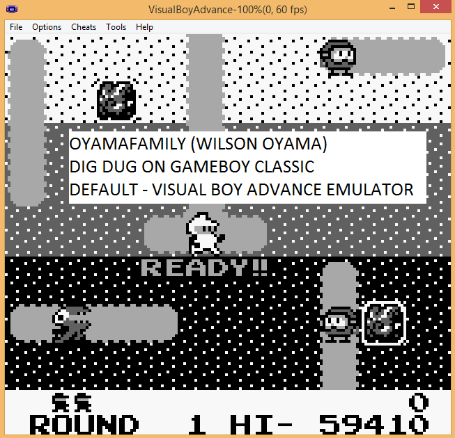 oyamafamily: Dig Dug (Game Boy Emulated) 59,410 points on 2015-11-15 16:39:56