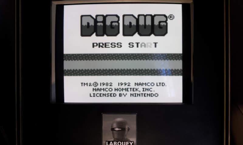 Larquey: Dig Dug (Game Boy Emulated) 69,730 points on 2018-11-03 05:49:49