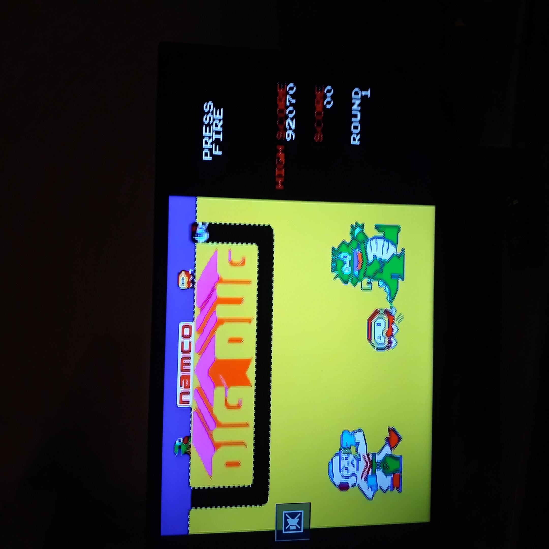 DIM: Dig Dug (Jakks Pacific Retro Arcade Pac-Man) 104,560 points on 2020-07-10 00:25:43