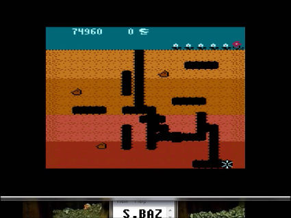 S.BAZ: Dig Dug [Mushroom Start] (Atari 400/800/XL/XE Emulated) 74,960 points on 2016-05-20 01:24:07