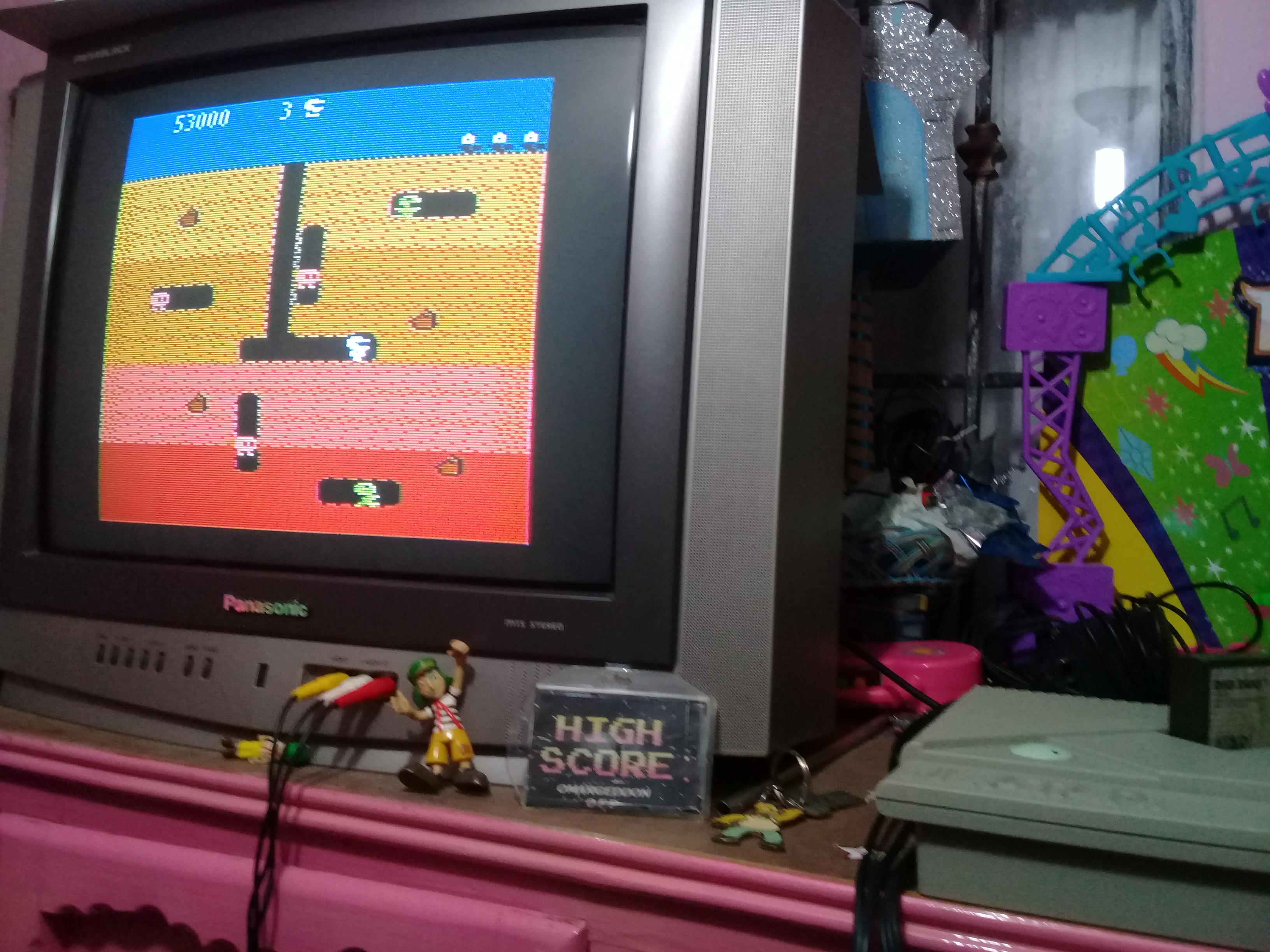 omargeddon: Dig Dug [Mushroom Start] (Atari 400/800/XL/XE) 53,000 points on 2019-01-08 18:11:44