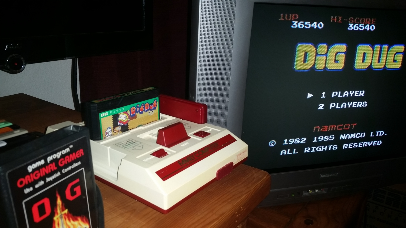 OriginalGamer: Dig Dug (NES/Famicom) 36,540 points on 2016-06-26 21:41:24