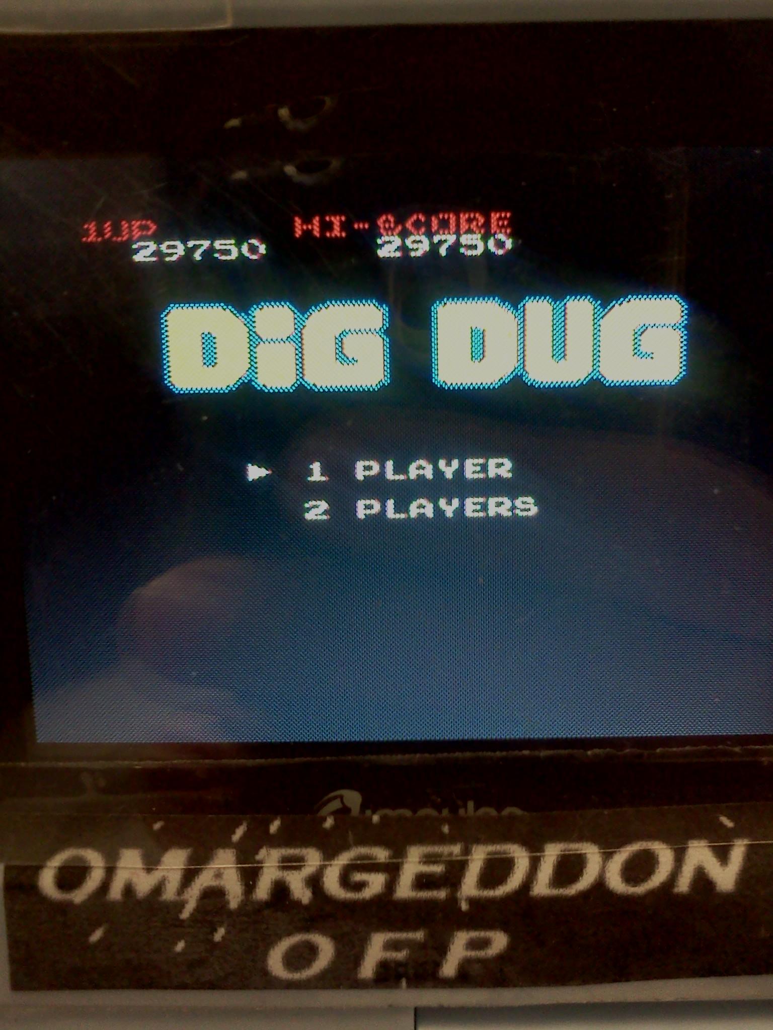 omargeddon: Dig Dug (NES/Famicom Emulated) 29,750 points on 2016-08-26 18:52:44