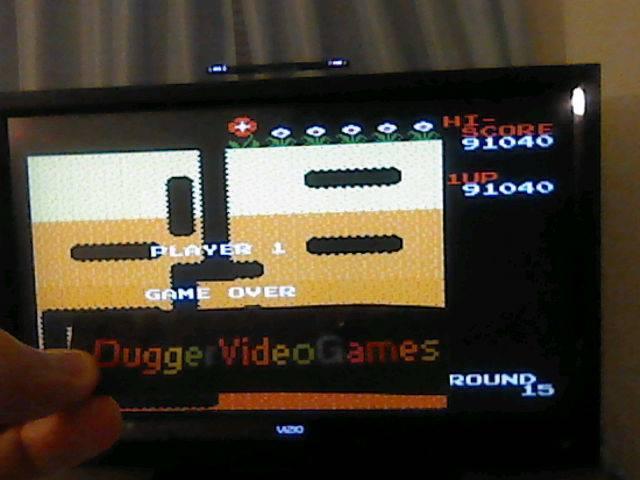 DuggerVideoGames: Dig Dug (NES/Famicom Emulated) 91,040 points on 2017-07-27 01:33:05