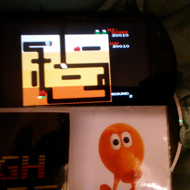 Pjsteele: Dig Dug (NES/Famicom Emulated) 30,010 points on 2018-02-07 20:54:15