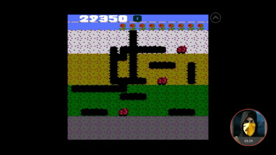 omargeddon: Dig Dug: Pineapple (Atari 7800 Emulated) 29,350 points on 2018-03-25 00:00:55