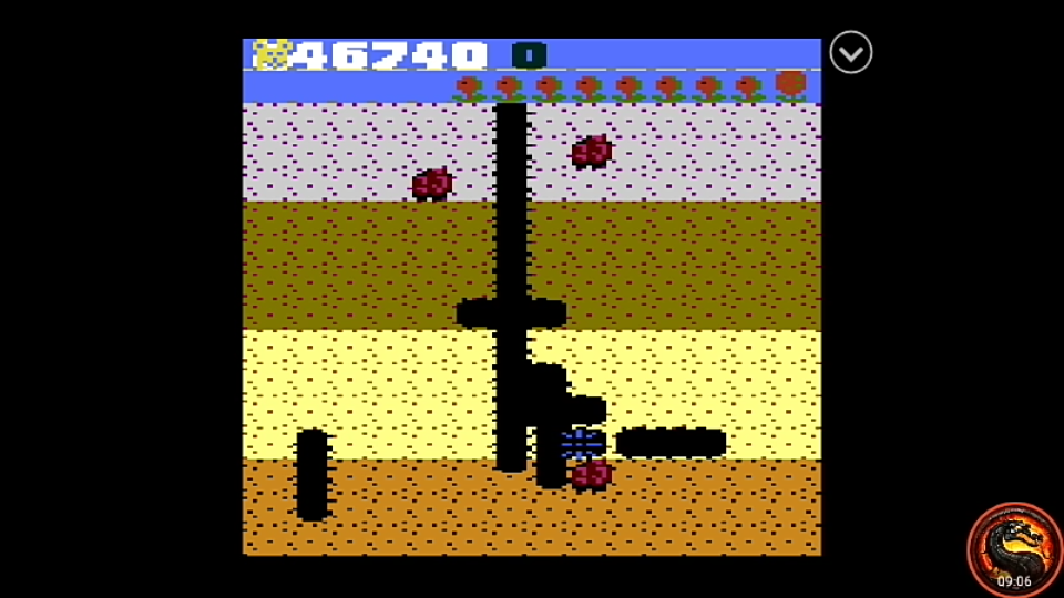 omargeddon: Dig Dug: Teddy Bear (Atari 7800 Emulated) 46,740 points on 2020-09-14 03:29:35