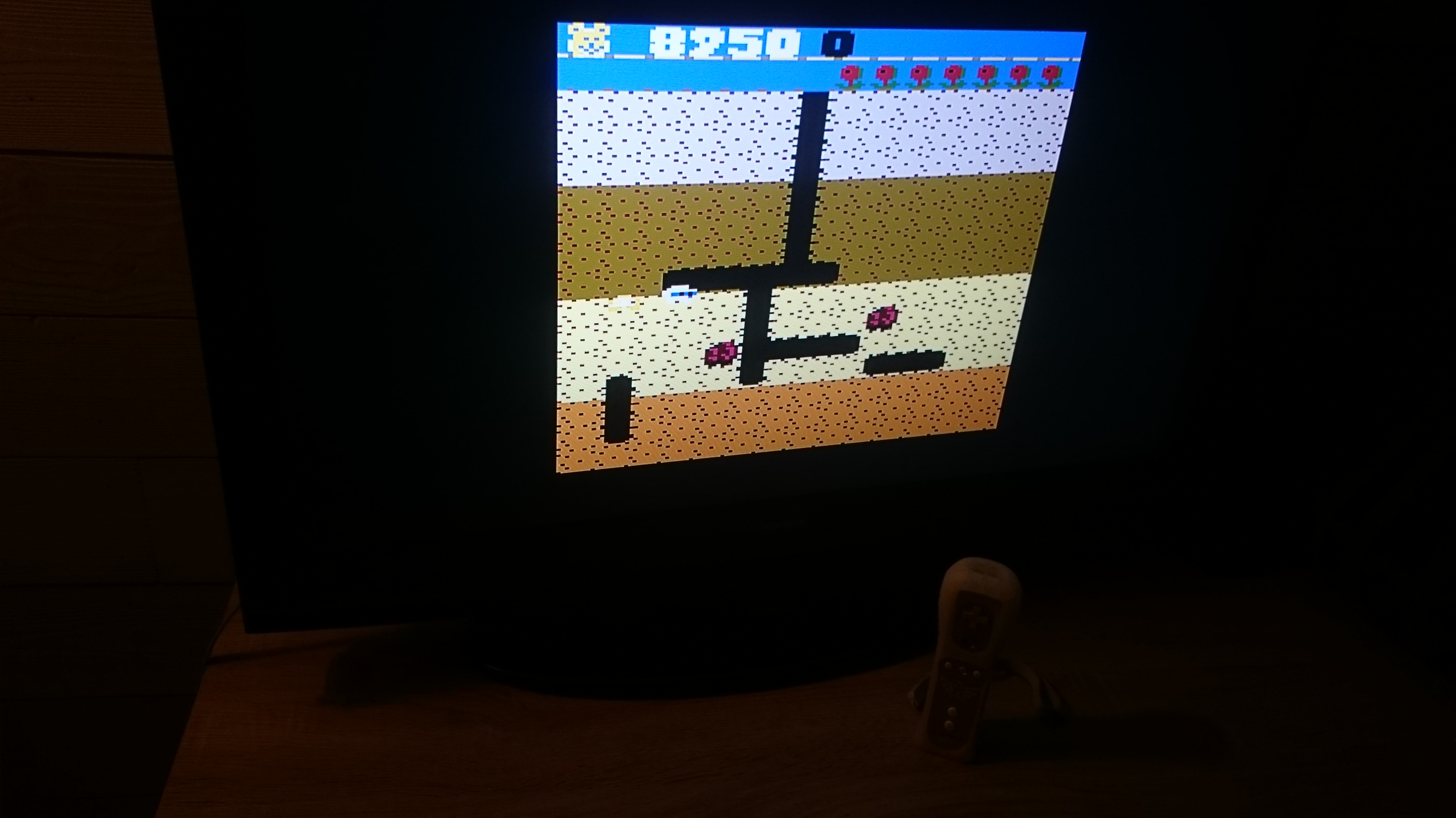 EddieNiceguy: Dig Dug: Teddy Bear (Atari 7800 Emulated) 8,250 points on 2017-11-28 15:44:28