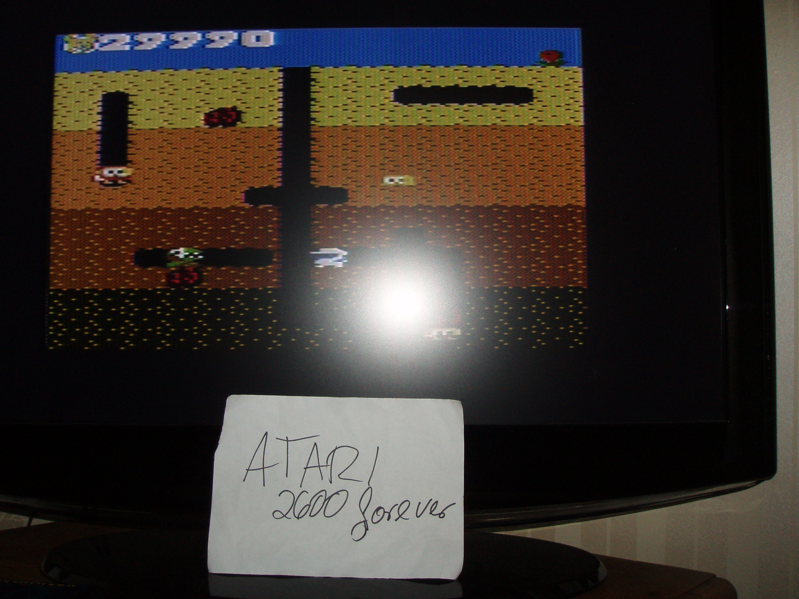 atari2600forever: Dig Dug: Teddy Bear (Atari 7800) 29,990 points on 2018-10-19 09:18:46
