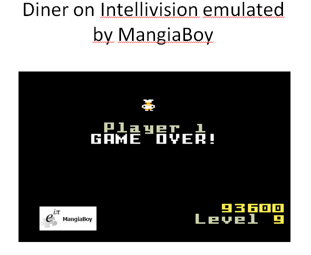 MangiaBoy: Diner (Intellivision Emulated) 93,600 points on 2016-01-16 23:45:02