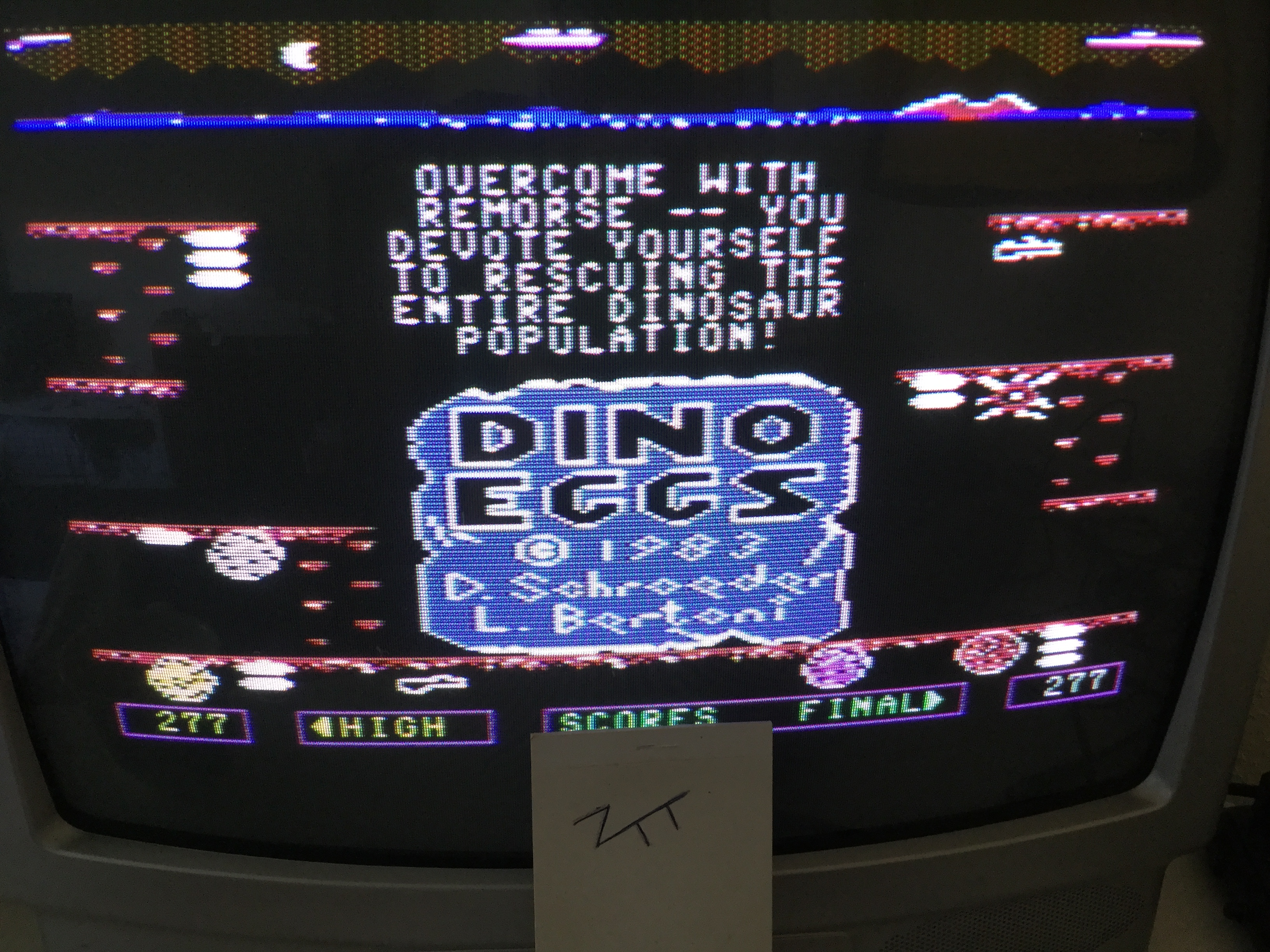 Frankie: Dino Eggs (Commodore 64) 277 points on 2017-04-29 05:54:15
