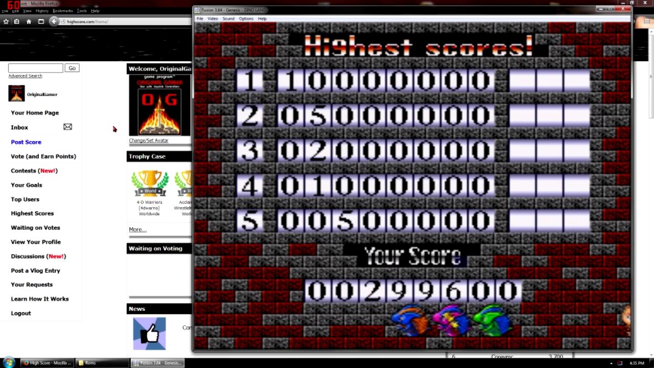 OriginalGamer: Dino Land [Beginner] (Sega Genesis / MegaDrive Emulated) 299,600 points on 2015-10-09 09:27:11