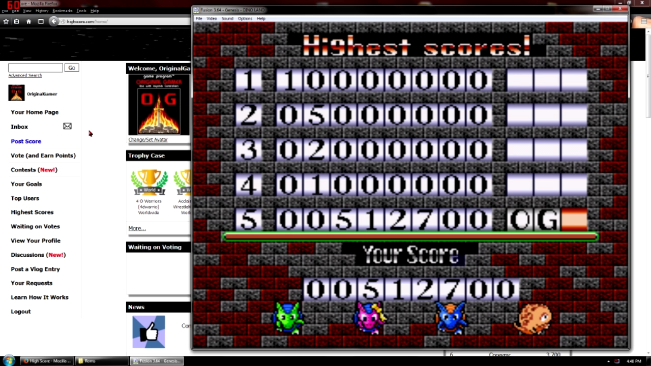 OriginalGamer: Dino Land [Intermediate] (Sega Genesis / MegaDrive Emulated) 512,700 points on 2015-10-09 09:29:57