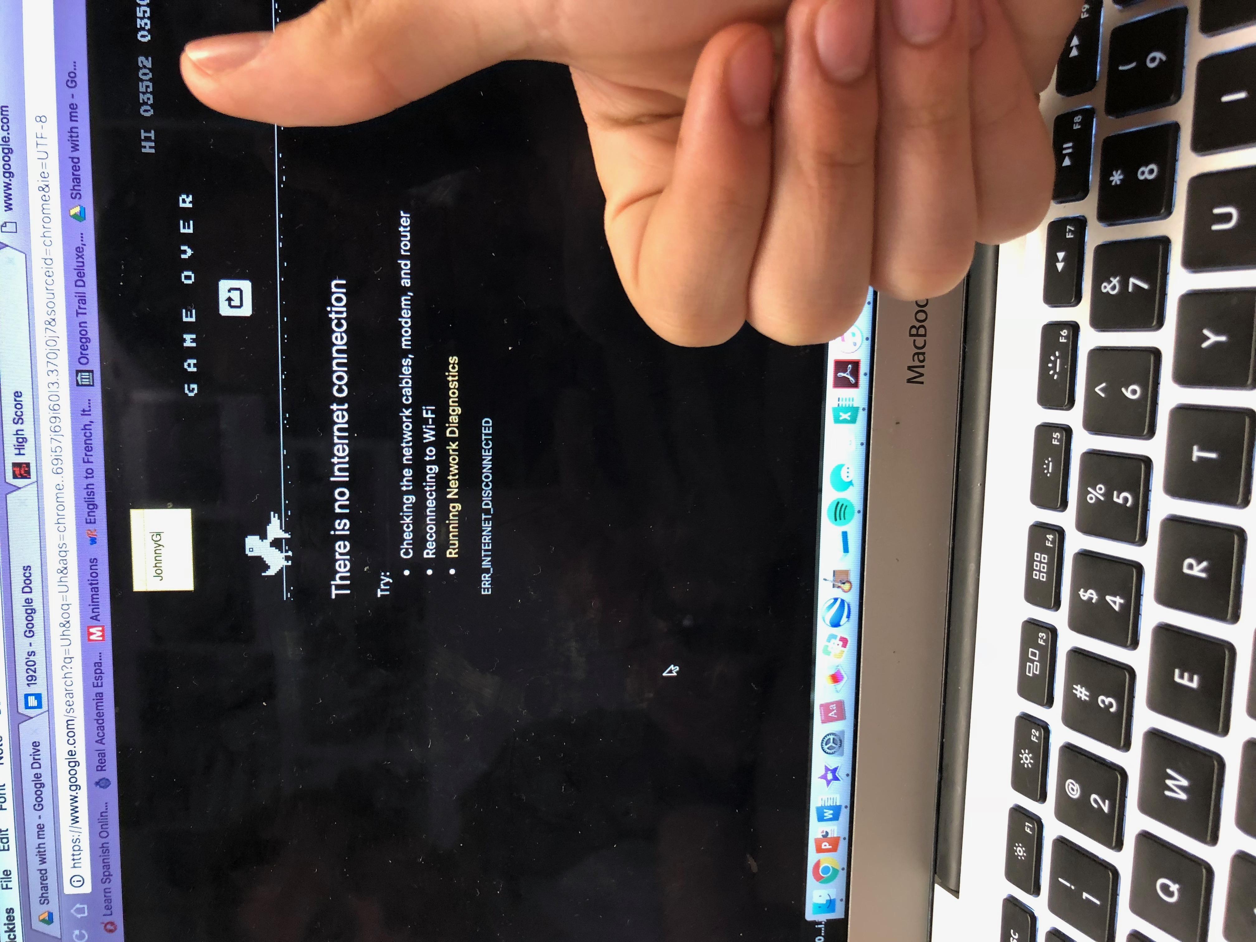 Dino Run [Google Chrome Offline] (Web) high score by JohnnyG