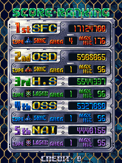 baldbull: DoDonPachi (Arcade Emulated / M.A.M.E.) 17,124,700 points on 2015-12-11 19:08:25