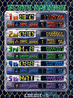 DoDonPachi 17,124,700 points
