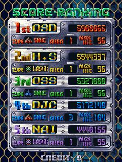 derek: DoDonPachi (Arcade Emulated / M.A.M.E.) 5,172,140 points on 2017-10-27 16:21:08