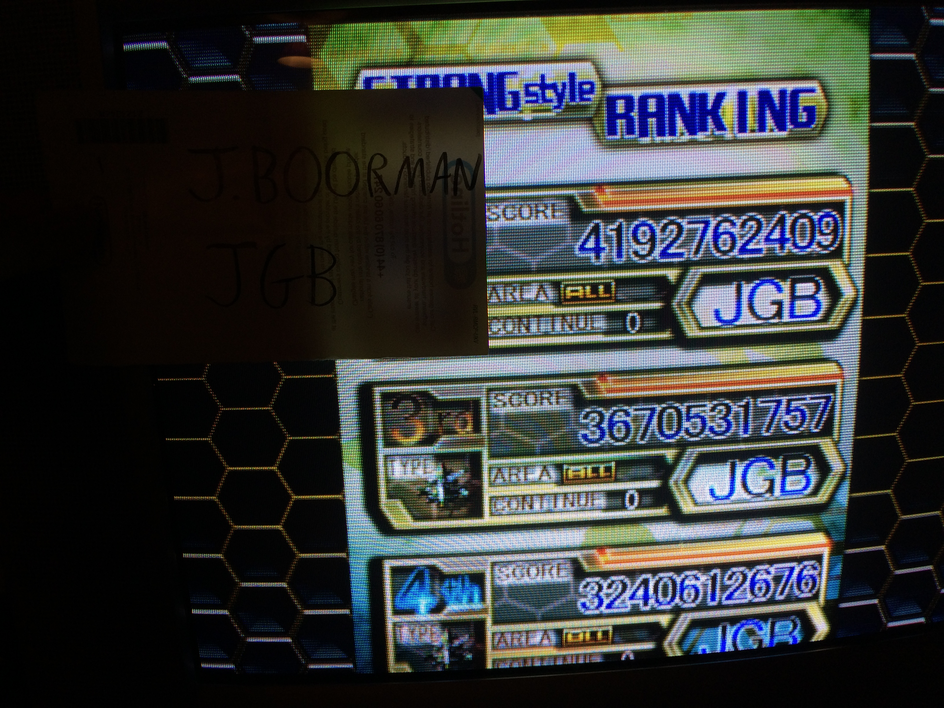 Dodonpachi Ressurection 4,192,762,409 points