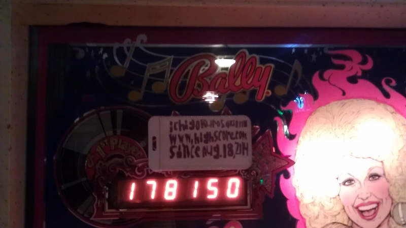 ichigokurosaki1991: Dolly Parton (Pinball: 3 Balls) 178,150 points on 2016-04-05 01:08:23
