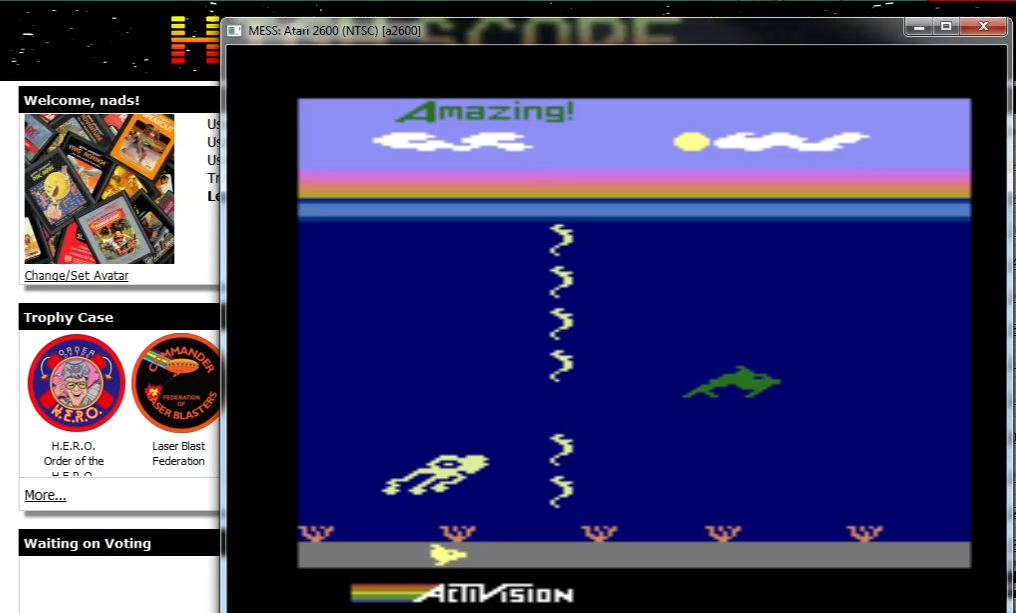 nads: Dolphin	 (Atari 2600 Emulated Novice/B Mode) 299,990 points on 2016-02-27 15:23:21