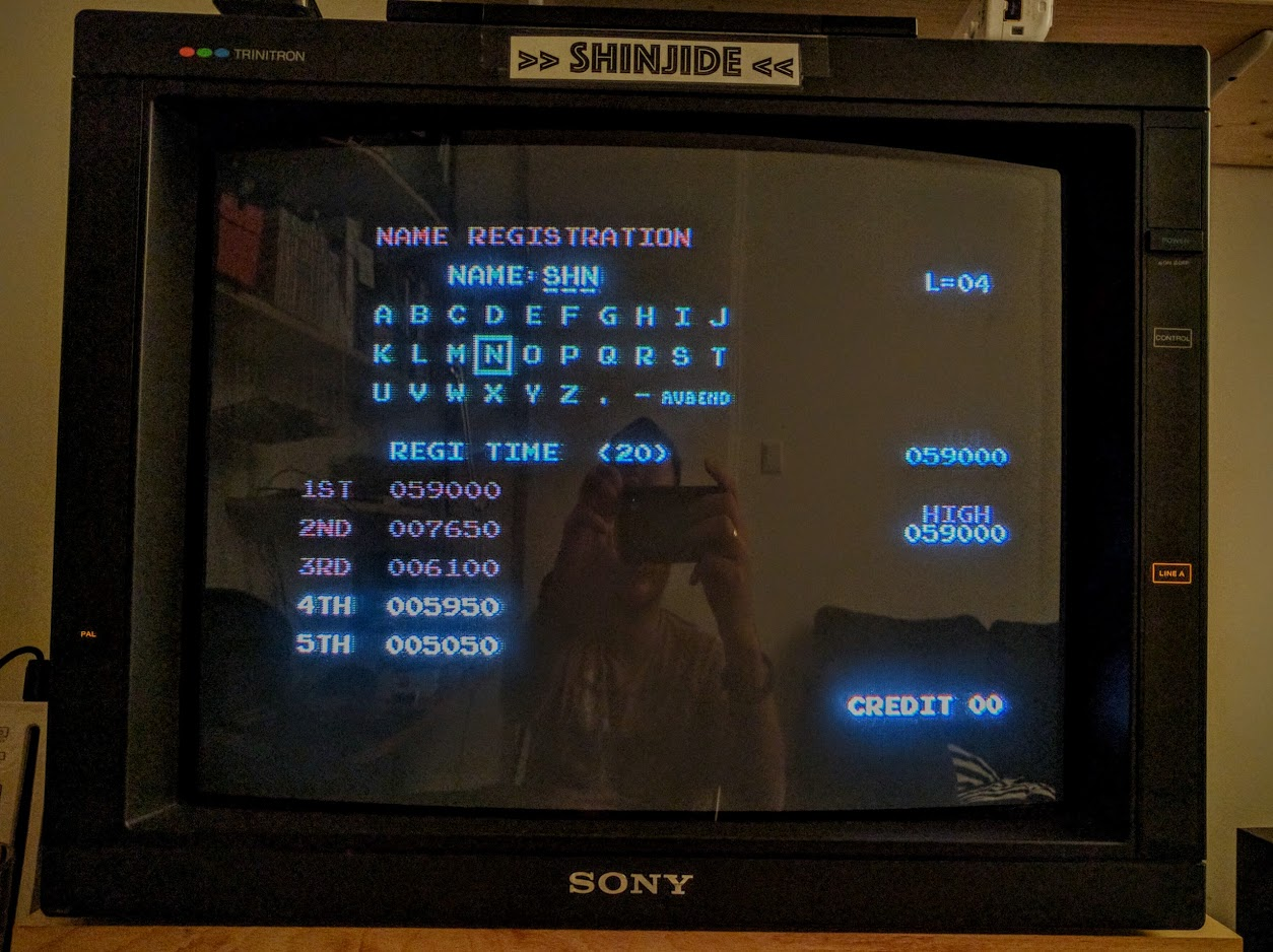 SHiNjide: Donkey Kong 2016 (Commodore 64) 59,000 points on 2016-11-01 08:12:41