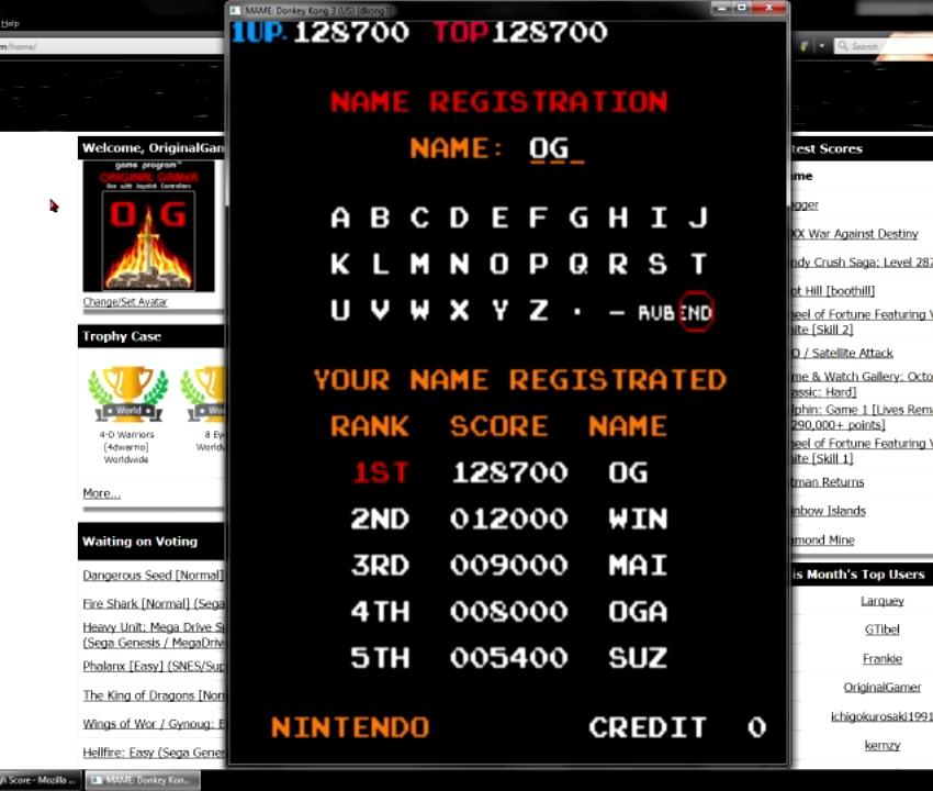 OriginalGamer: Donkey Kong 3 (Arcade Emulated / M.A.M.E.) 128,700 points on 2015-07-06 18:47:16