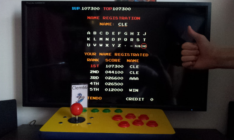 Clem66: Donkey Kong 3 (Arcade Emulated / M.A.M.E.) 107,300 points on 2016-01-23 05:36:33