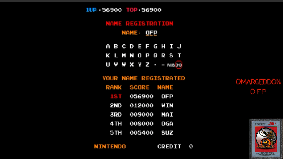 omargeddon: Donkey Kong 3 (Arcade Emulated / M.A.M.E.) 56,900 points on 2017-05-06 00:40:11