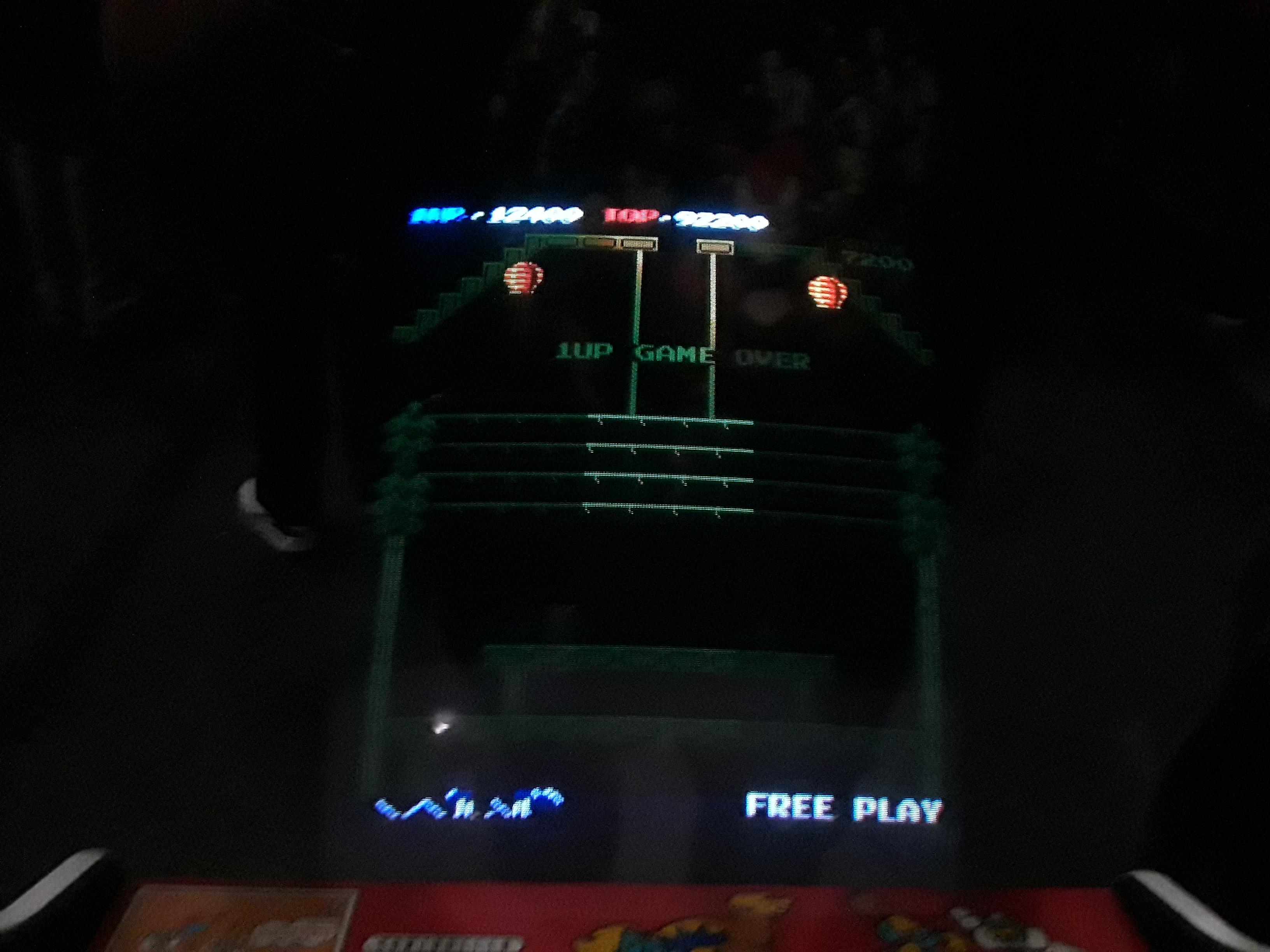 Donkey Kong 3 12,400 points